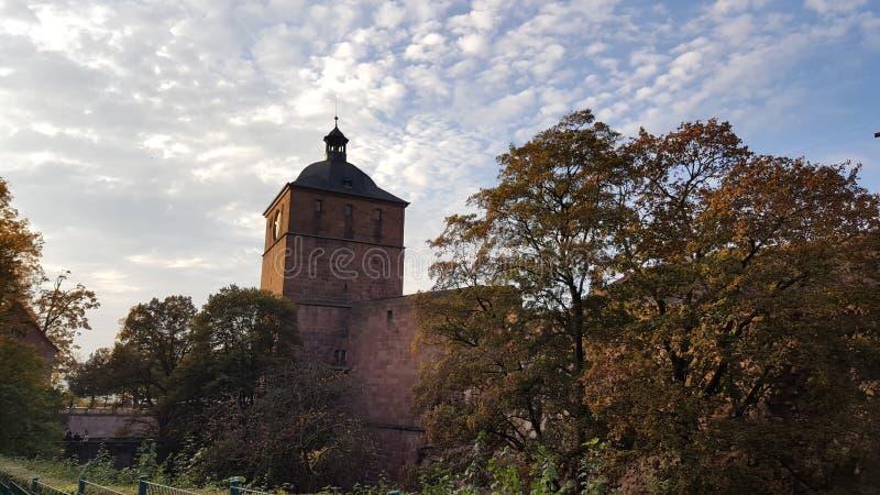 De ruïne van het kasteel van Heidelberg of heidelberger schloss, Duitsland royalty-vrije stock foto