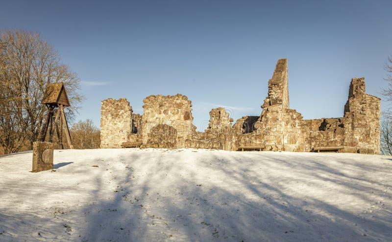 De ruïne van de Ryakapel stock fotografie