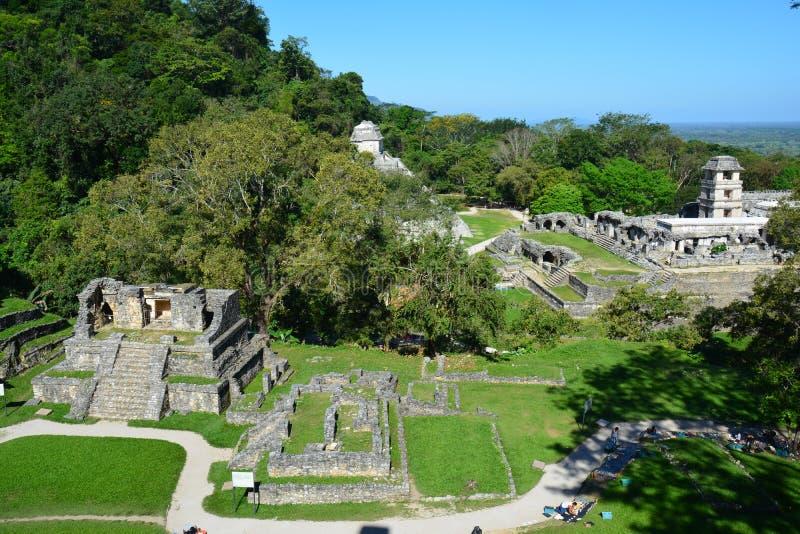 De Ruïnes Chiapas Mexico van Weergevenpalenque royalty-vrije stock fotografie