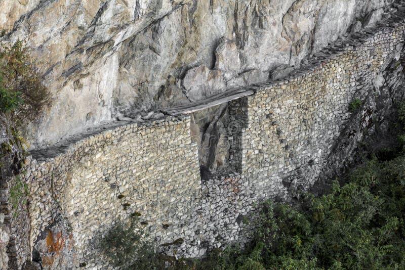 De ruïnes Cuzco Peru van brugmachu Picchu stock foto's