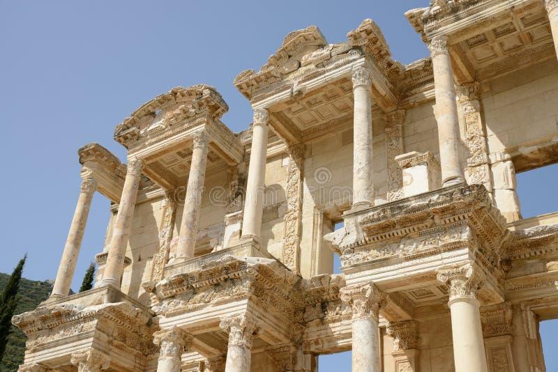 De ruïnes in Ephesus, Turkije royalty-vrije stock afbeeldingen