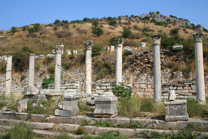 De Ruïnes Izmir-Turkije Van Ephesus Royalty-vrije Stock Afbeeldingen