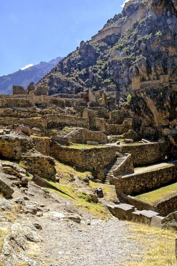 De ruïnes Peru van Incan royalty-vrije stock afbeeldingen