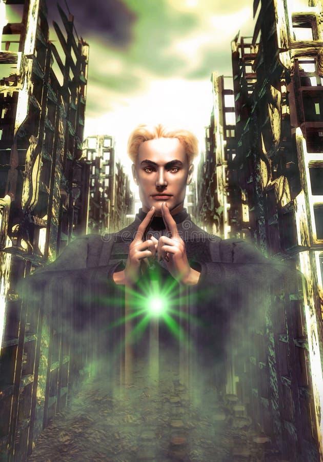 De ruïnes van Cyber royalty-vrije illustratie