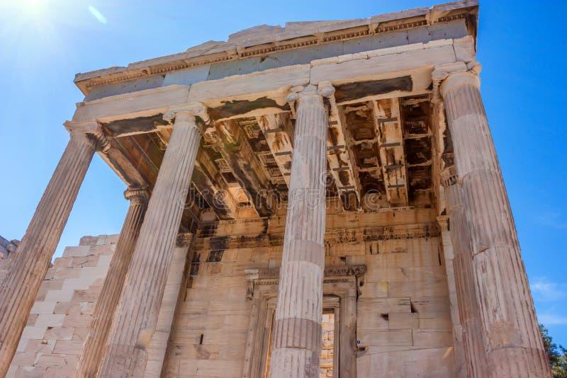 De ruïnes van de Erechtheumtempel stock fotografie