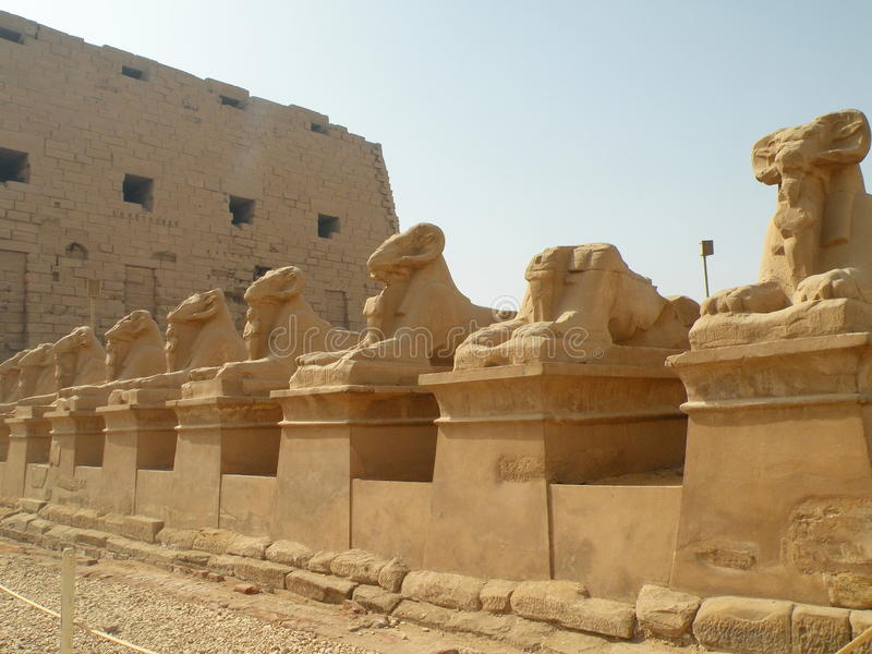 De ruïnes van de Karnaktempel, Egypte stock foto