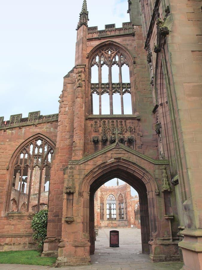 De ruïnes van de Kathedraal van Coventry royalty-vrije stock foto's