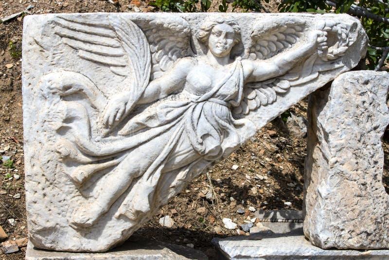 De ruïnes van de oude antieke stad van Ephesus stock fotografie