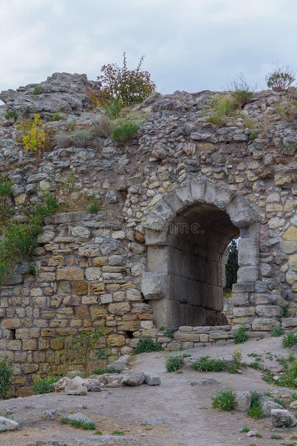 De ruïnes van de oude stad van Hersonissos crimea stock foto's