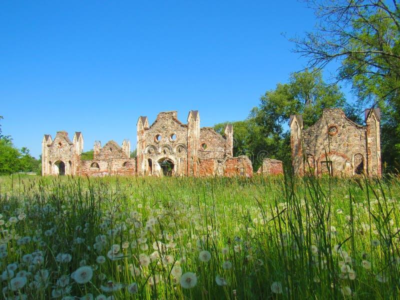 De ruïnes van de stallen van een baron stock fotografie
