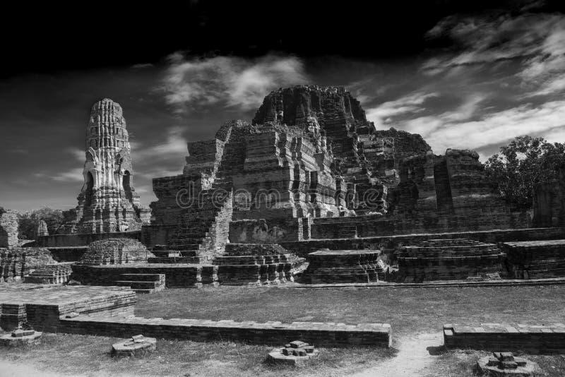 De Ruïnes van de tempel, Ayutthaya stock afbeelding