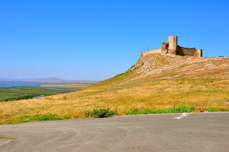 De ruïnes van de vesting in Roemenië royalty-vrije stock foto
