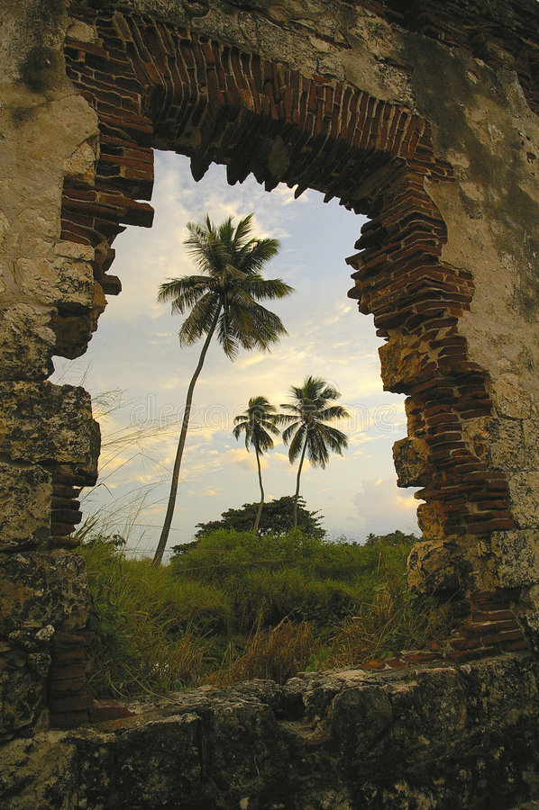 De Ruïnes van de vuurtoren royalty-vrije stock foto's
