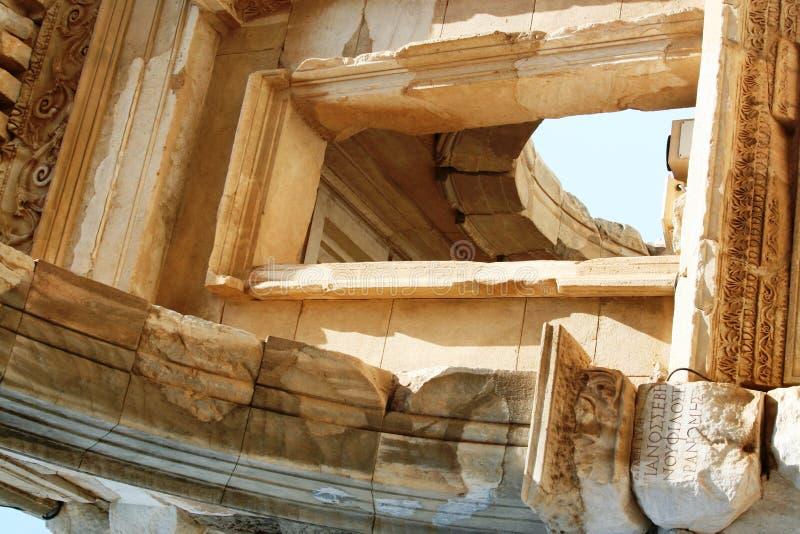 De Ruïnes Van Ephesus Turkije Stock Afbeeldingen