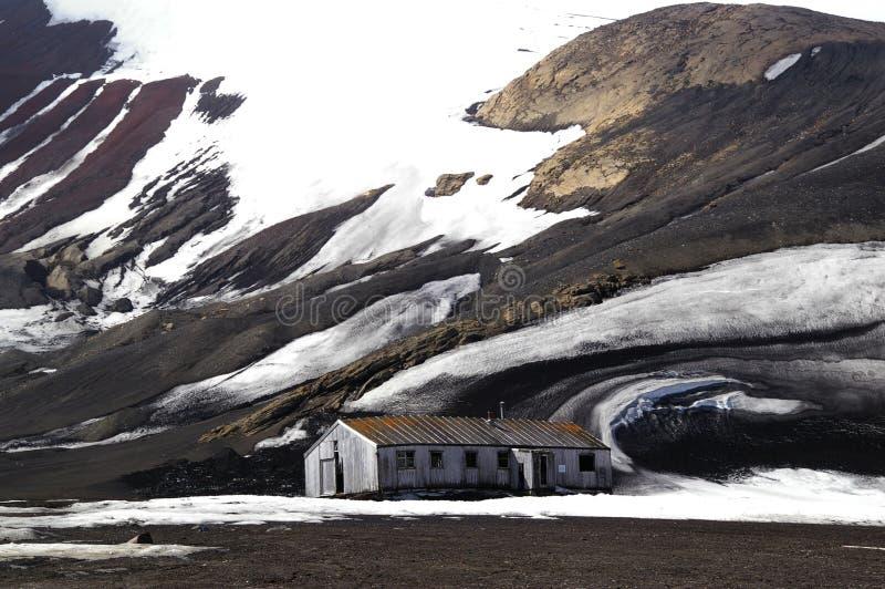 De Ruïnes van het Eiland van de teleurstelling - Antarctica royalty-vrije stock afbeelding