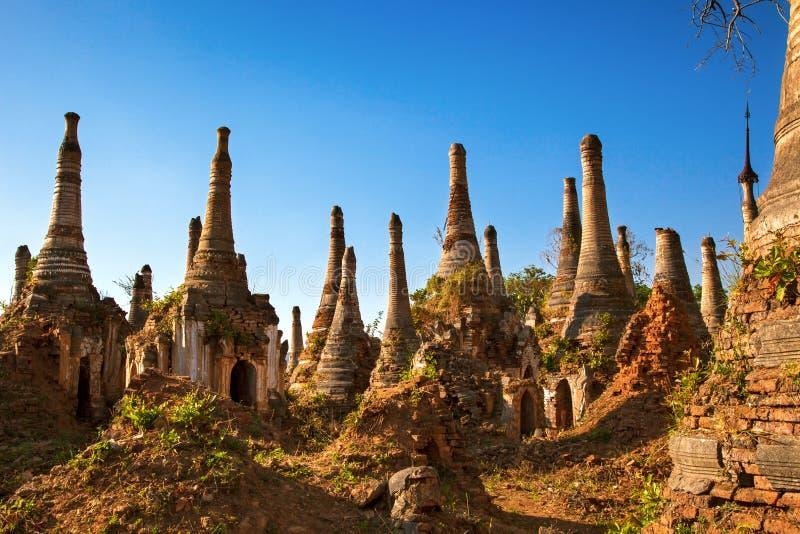 De ruïnes van het Inlemeer, Myanmar royalty-vrije stock foto