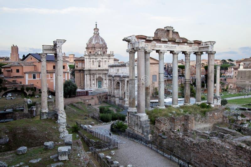 De ruïnes van het Roman forum royalty-vrije stock foto