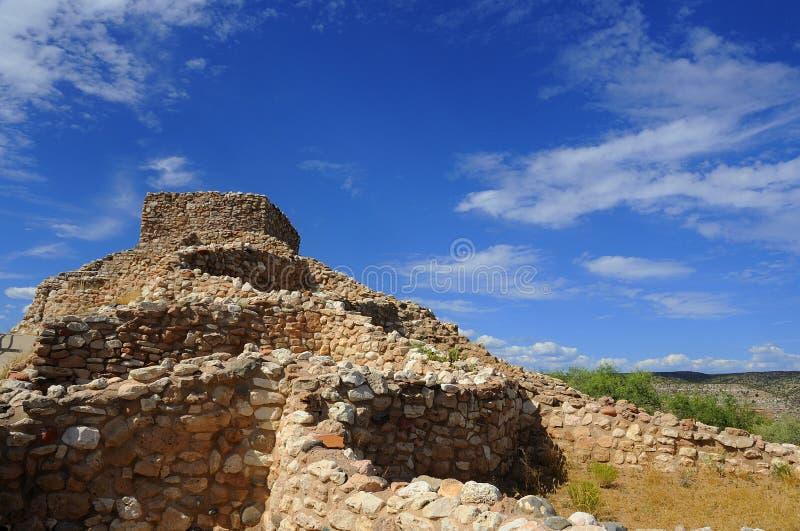 De ruïnes van het Sinaguadorp royalty-vrije stock afbeelding