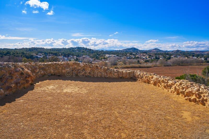 De ruïnes van Iberiërs in Vallesa van Paterna royalty-vrije stock fotografie