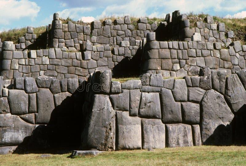 De ruïnes van Inca stock afbeelding