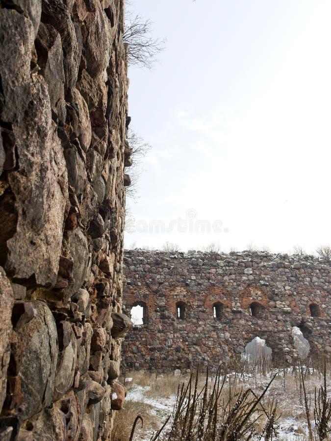 De ruïnes van Kruisvaarderskasteel royalty-vrije stock afbeeldingen