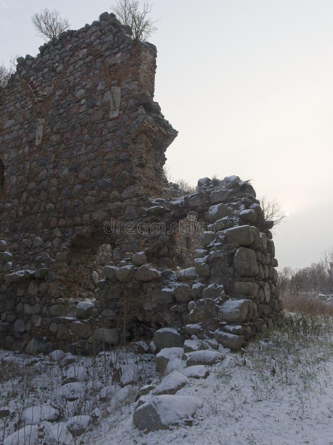 De ruïnes van Kruisvaarderskasteel royalty-vrije stock afbeelding