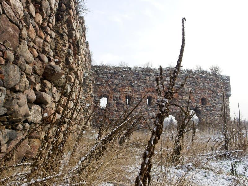 De ruïnes van Kruisvaarderskasteel royalty-vrije stock foto
