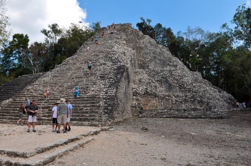 De Ruïnes van Mexico van Coba stock afbeelding