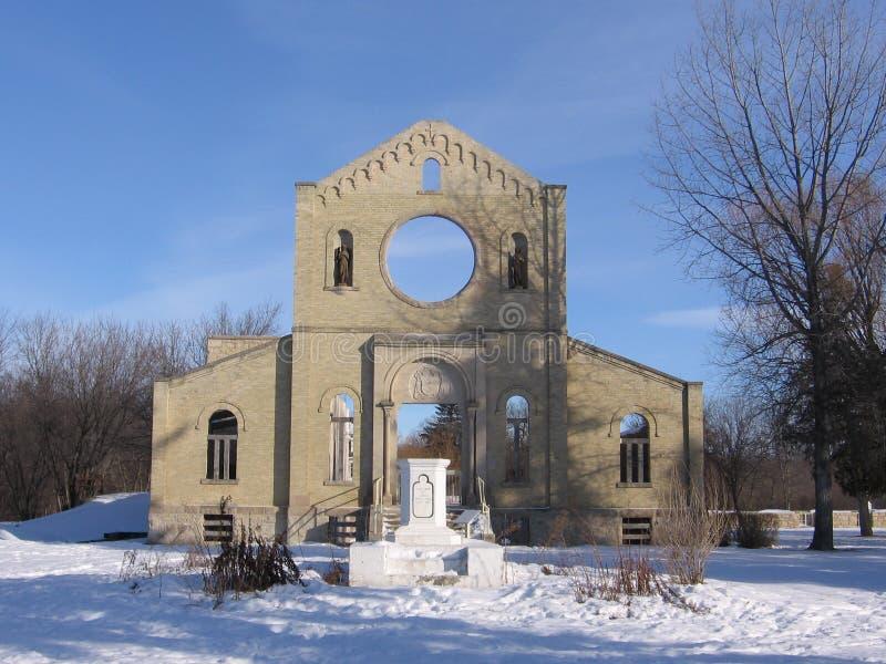 De Ruïnes van Monastary, St. Norbert stock foto