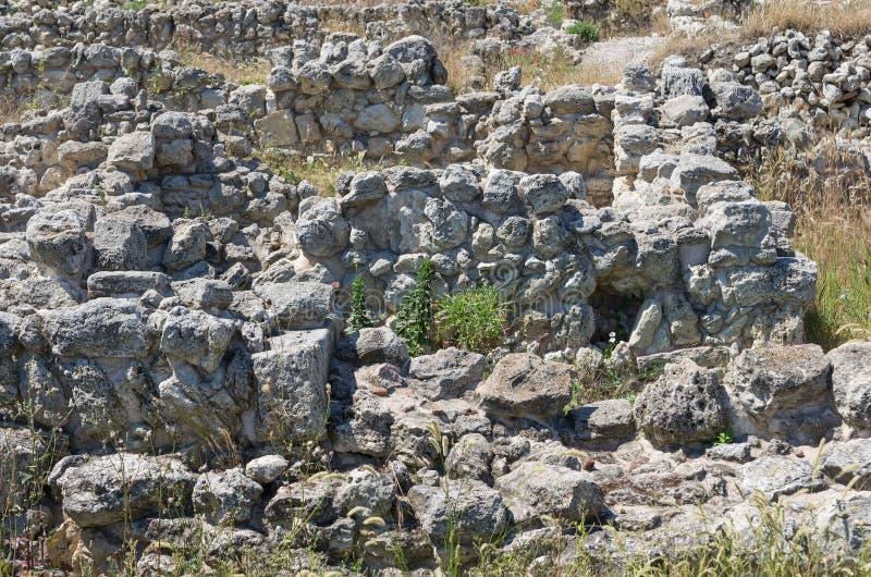 De ruïnes van de oude stad stock foto's
