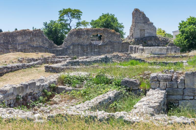 De ruïnes van de oude stad stock afbeelding