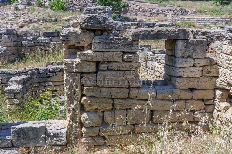 De ruïnes van de oude stad royalty-vrije stock foto