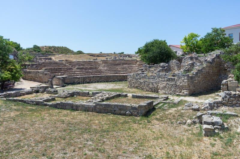 De ruïnes van de oude stad stock fotografie