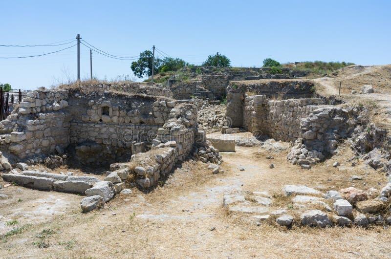 De ruïnes van de oude stad royalty-vrije stock fotografie