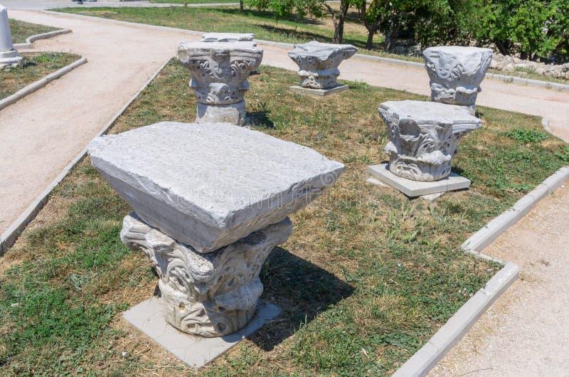 De ruïnes van de oude stad royalty-vrije stock afbeeldingen