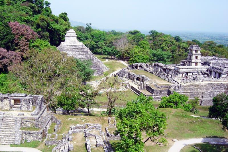 De Ruïnes van Palenque royalty-vrije stock foto