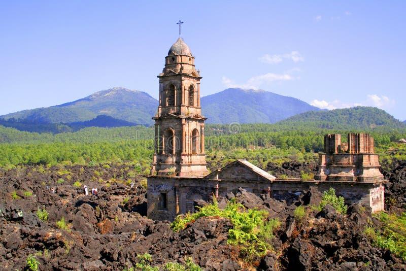 De ruïnes van Paricutin royalty-vrije stock foto