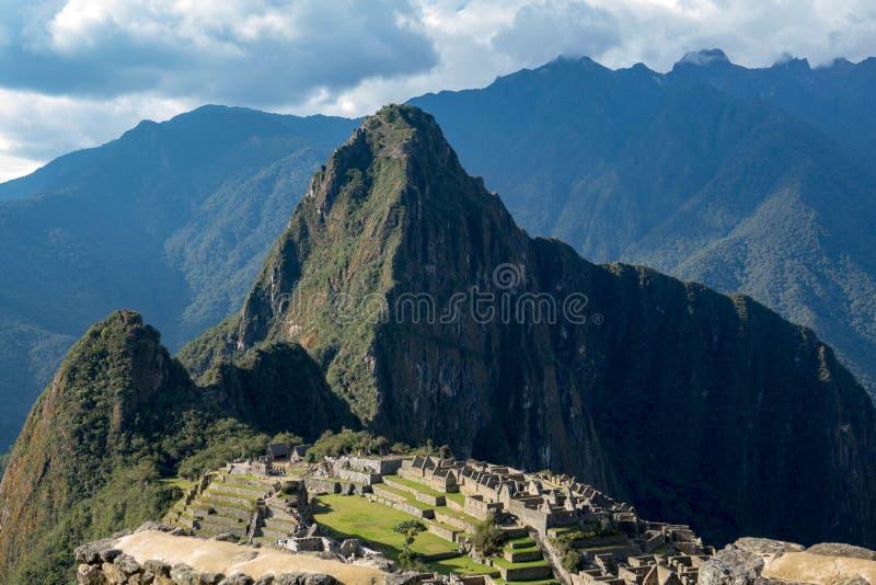 De Ruïnes van Picchu van Machu in Peru royalty-vrije stock afbeeldingen