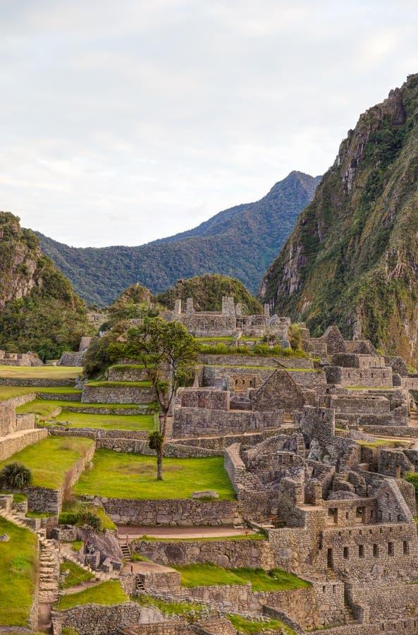De Ruïnes van Picchu van Machu stock afbeelding