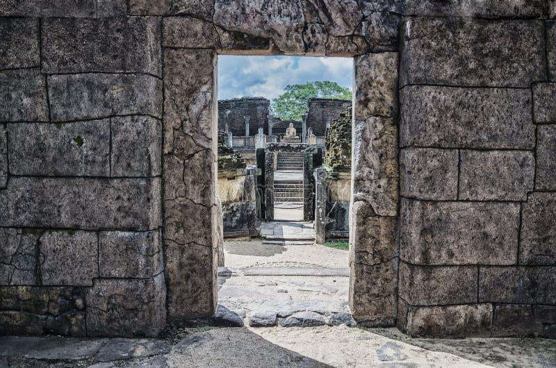 De Ruïnes van Polonnaruwa royalty-vrije stock foto's