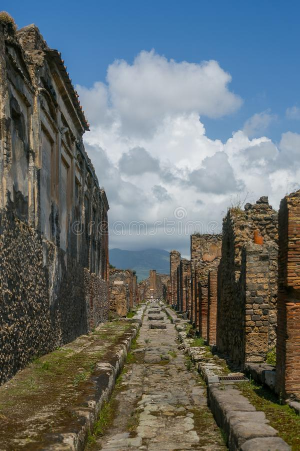 De ruïnes van Pompei stock foto's