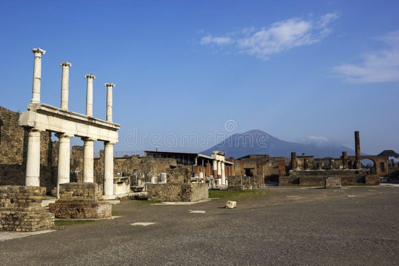 De ruïnes van Pompei stock fotografie