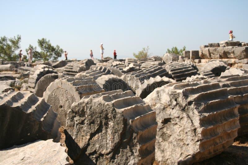 De ruïnes van Priene royalty-vrije stock foto's