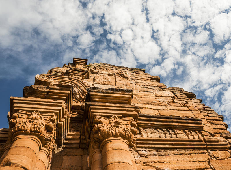 De ruïnes van San Ignace in Missiones-Provincie, Argentinië royalty-vrije stock foto's