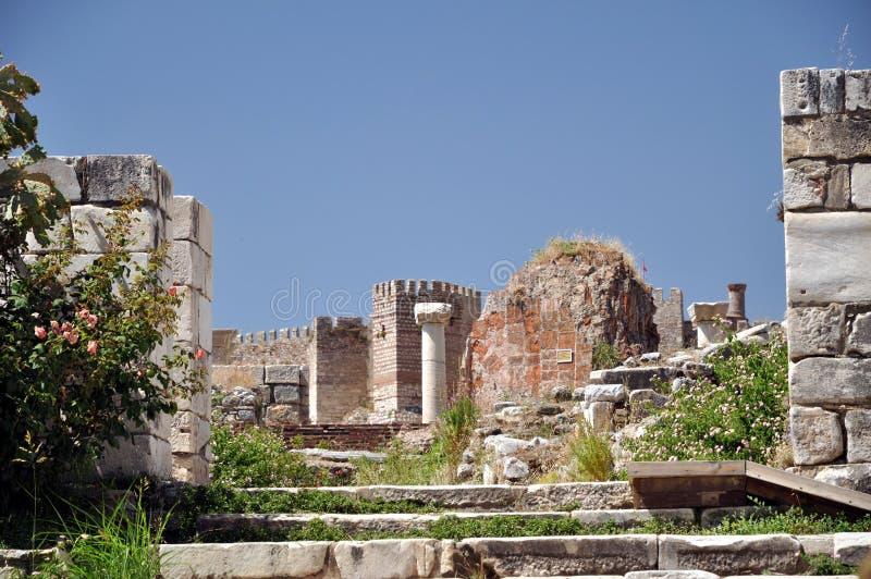 De ruïnes van Selcuk stock foto's