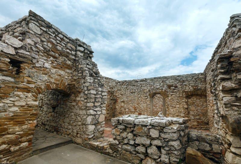 De ruïnes van Spis-Kasteel (of Spissky hrad) slowakije stock afbeeldingen