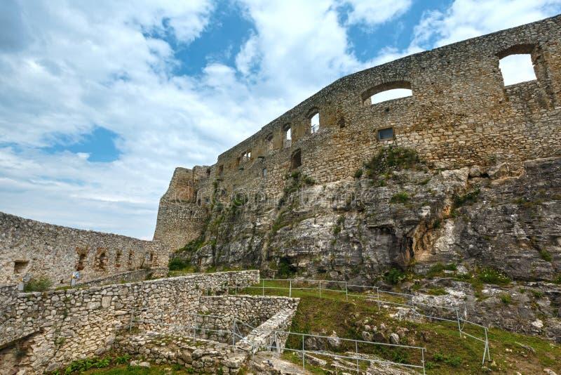 De ruïnes van Spis-Kasteel (of Spissky hrad) slowakije royalty-vrije stock foto's