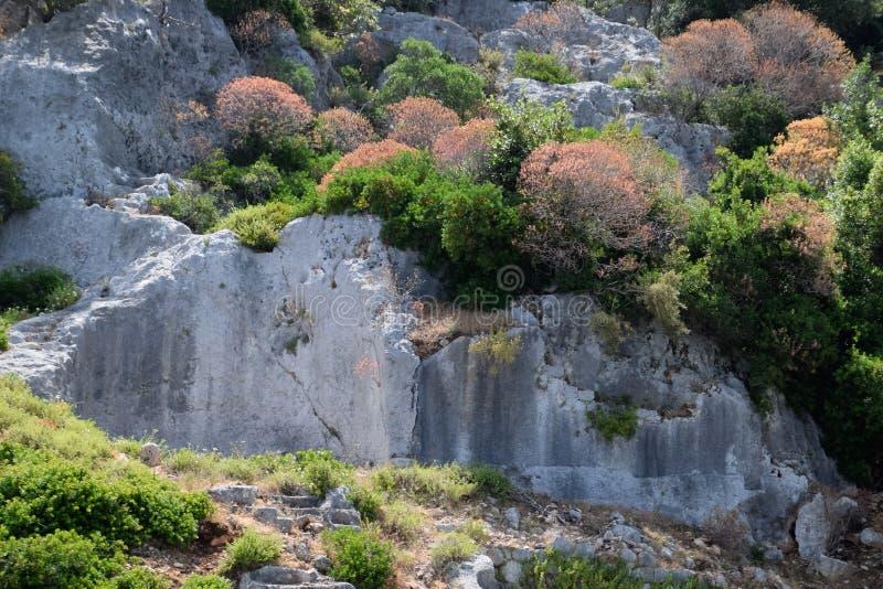 De ruïnes van de stad van Mira, Kekova royalty-vrije stock afbeelding