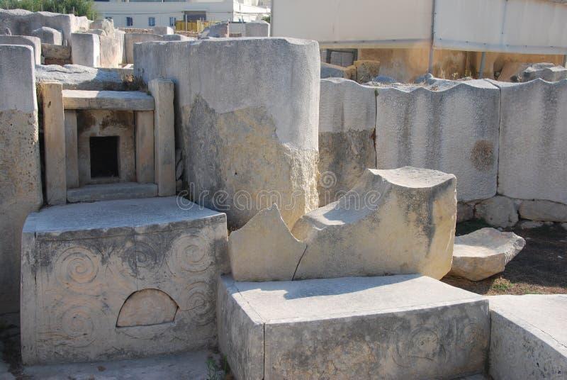 De Ruïnes van Tarxien royalty-vrije stock foto's