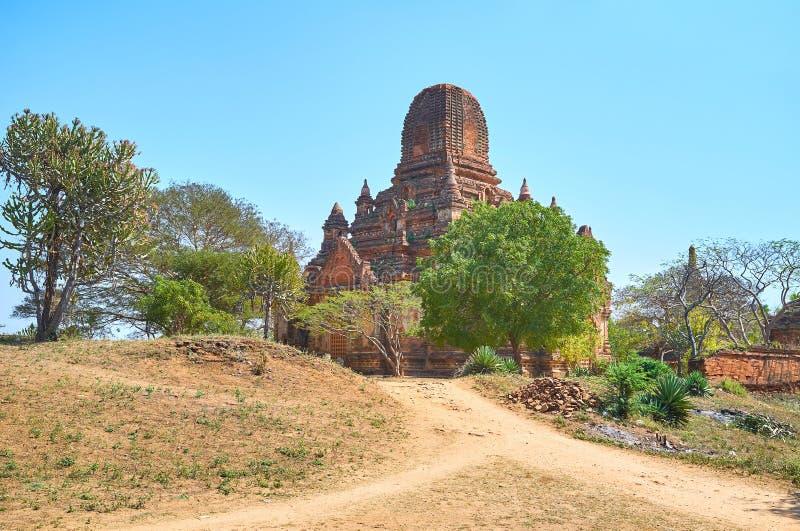De ruïnes van de tempel in Bagan, Myanmar stock afbeeldingen